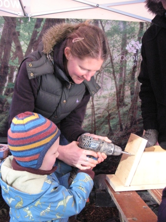 Making a bird box using local timber