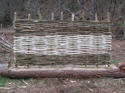 Woodland skills - hazel hurdle