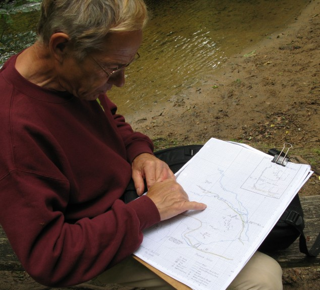 Reg demonstrates how Vinnimore relates to other recently discovered features along the valley
