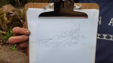 John's detailed drawing of the parlour fire place