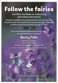 The Becky Falls Family Trail poster
