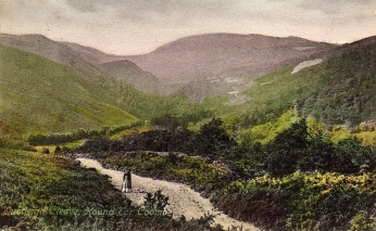 An old postcard depicts a view of the past (Lustleigh Society)