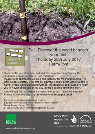 Soil beneath your feet 2017_Walks flyer