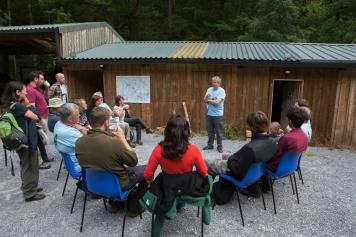 David Rickwood introducing the field visit