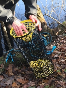 Opening crayfish trap_K Smith