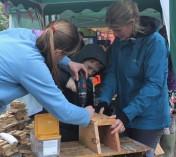 Rachael bird box making